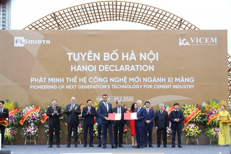 Vicem và FLSmidth ra tuyên bố chung Hà Nội - phát minh thế hệ công nghệ mới ngành xi măng